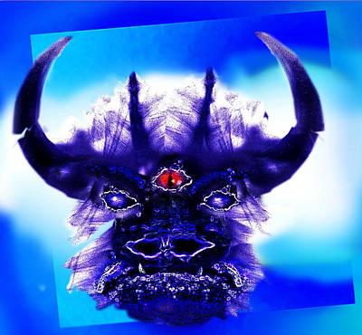 Minotaur Mixed Media - Mythical Buffalo  by Hartmut Jager