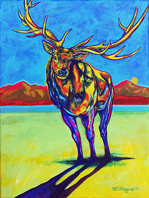 Mythical Elk Print by Derrick Higgins