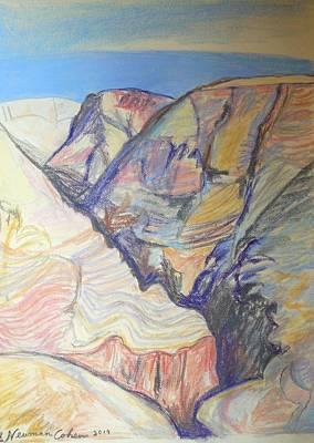 Nachal Darga Canyon Print by Esther Newman-Cohen
