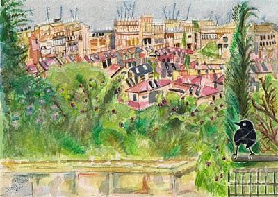 Painting - Nachlaot, Jerusalem by Chana Helen Rosenberg