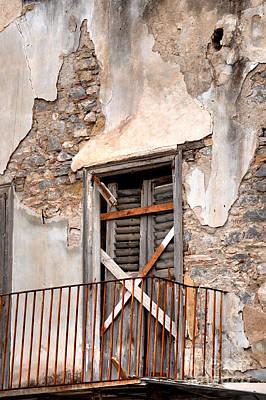 Nafplio Balcony Ruin Print by Deborah Smolinske