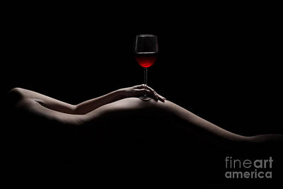 Nude Girl Photograph - Naked Wine by Jt PhotoDesign