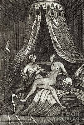 Lesbianism Photograph - Naked Women, 17th Century Artwork by British Library