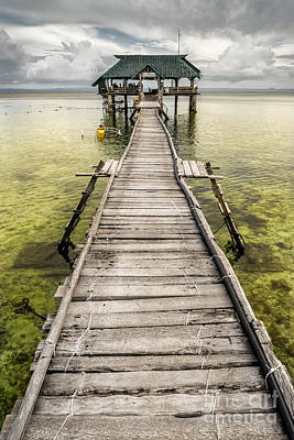 Nalusuan Island Pier Print by Adrian Evans