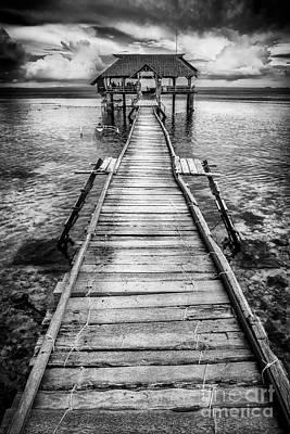 Nalusuan Pier Print by Adrian Evans