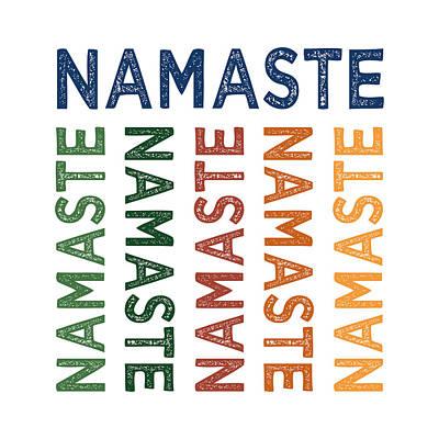 Namaste Cute Colorful Print by Flo Karp
