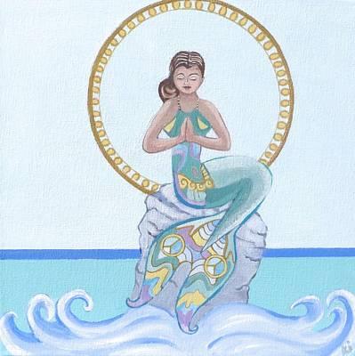 Baba Painting - Namaste Mermaid by Sonya Ki Tomlinson