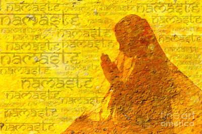 Awareness Digital Art - Namaste  by Tim Gainey