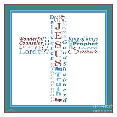 Names Of Jesus-jp2457 Original by Jean Plout
