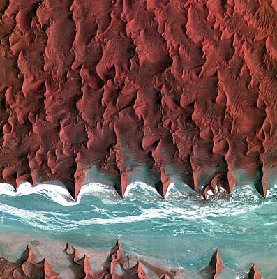 Satellite Image Photograph - Namib Desert by Kari/european Space Agency