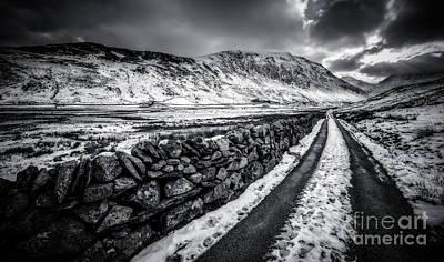 Beam Digital Art - Nant Ffrancon Pass V2 by Adrian Evans