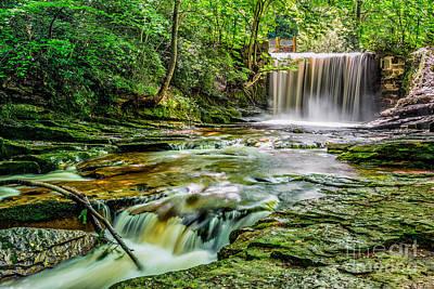 Nant Mill Waterfall Print by Adrian Evans