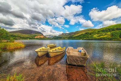 North Wales Digital Art - Nantlle Lake by Adrian Evans