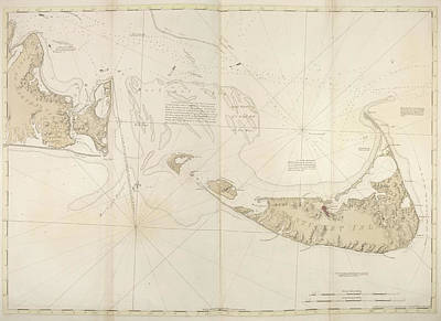 Chart Photograph - Nantucket Island by British Library
