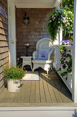 Flower Photograph - Nantucket Porch by Donna Doherty