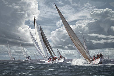 Sailing Painting - Nantucket Sound Warriors by Julia O'Malley-Keyes