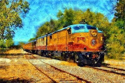 Napa Valley Wine Train Print by Kaylee Mason