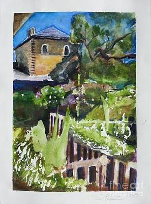 Sattui Painting - Napa Valley Winery In June by Karen Trout