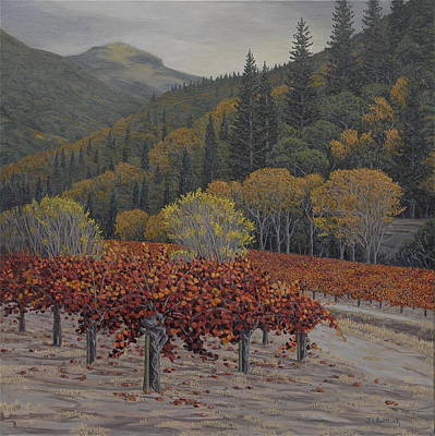 Vines Painting - Napa Zin by James English Babcock