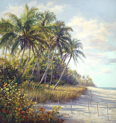 Naples Beach Access Print by Laurie Hein