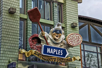 Naples Pizzeria Signage Downtown Disneyland Print by Thomas Woolworth