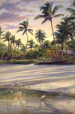 Coconut Painting - Naples Sunrise by Laurie Hein