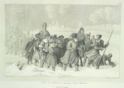 Eve Photograph - Napoleon And Entourage by British Library