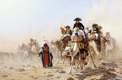 Napoleon And His General Staff Print by Jean Leon Gerome