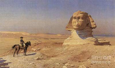 Napoleon Bonaparte Before The Sphinx Print by Photo Researchers