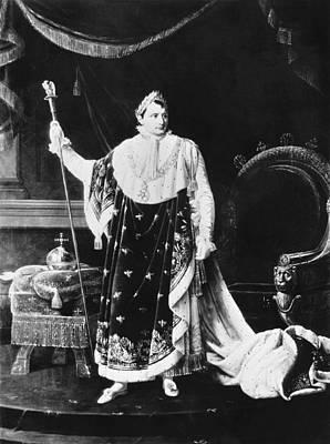 White-crowned Photograph - Napoleon Bonaparte Coronation by Underwood Archives