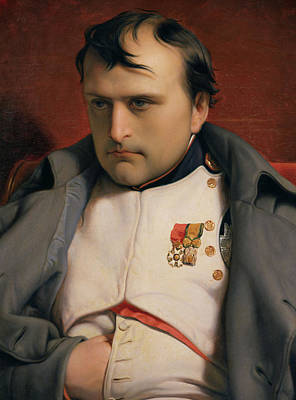 Figures Painting - Napoleon In Fontainebleau by Hippolyte Delaroche