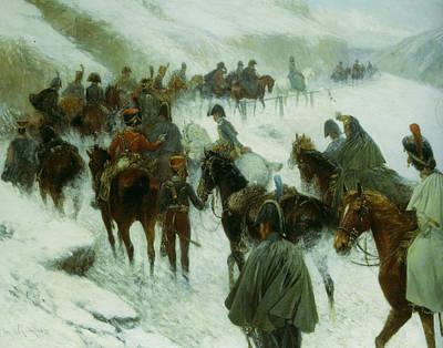 Moscow Digital Art - Napoleon Leading His Troops Through Guadarrama Mountains by Jan Von Chelminski