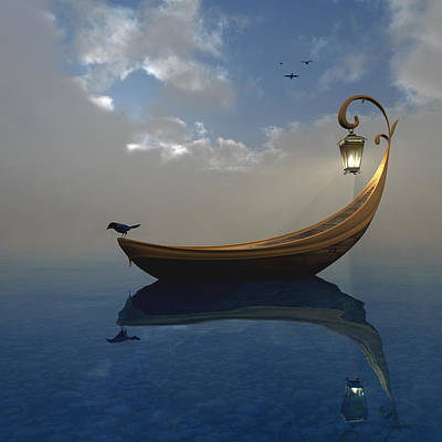 Canoe Digital Art - Narcissism by Cynthia Decker