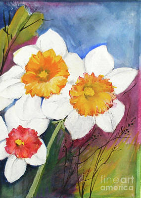 Narcissus Print by Sibby S