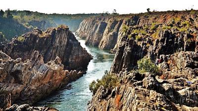 Narmada River Gorge At Jabalpur India Print by Kim Bemis