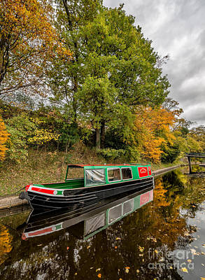 Llangollen Digital Art - Narrow Boat by Adrian Evans