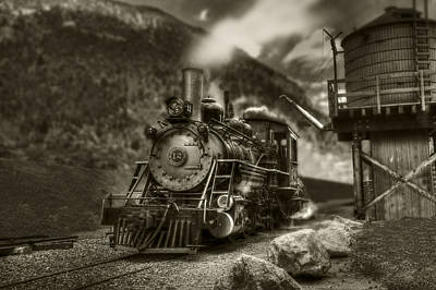 Photograph - Narrow Gage Steam by Stephen EIS