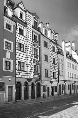 Narrow Houses Print by Arkady Kunysz
