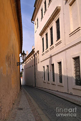 Europe Photograph - Narrow Lane In The Romantic City Of Prague by Louise Heusinkveld