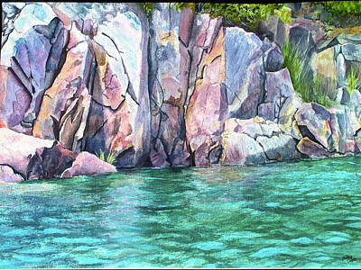 Waves Painting - Narrow Passage by Kathy Dolan