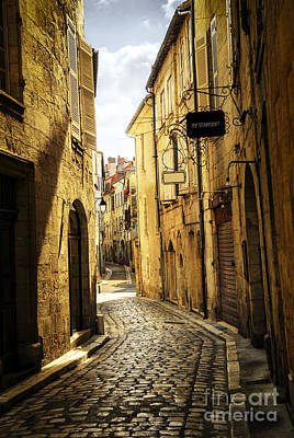 Sight Photograph - Narrow Street In Perigueux by Elena Elisseeva