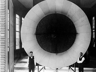 Nasa's First Wind Tunnel Print by Naca