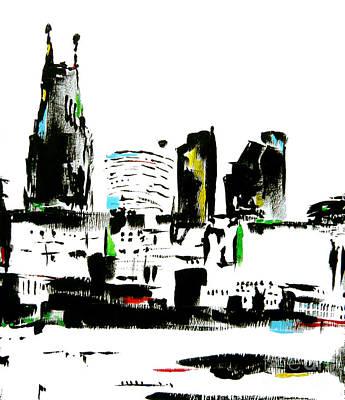 Nashville Skyline Painting - Nashville Abstract by Wendy Barritt