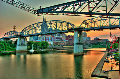 Nashville Dusk Print by Zachary Cox