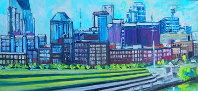 Cumberland River Painting - Nashville by Larry Downing