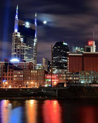 Nashville Nights Print by Frozen in Time Fine Art Photography