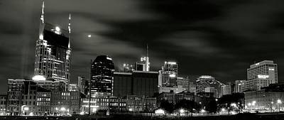 Downtown Nashville Photograph - Nashville Panoramic by Frozen in Time Fine Art Photography