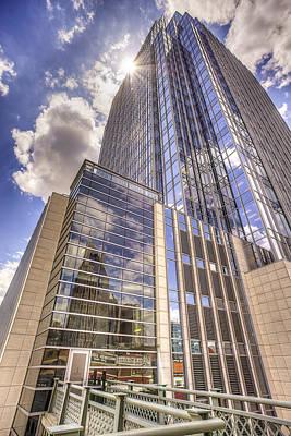Downtown Nashville Photograph - Nashville Pinnacle Sunburst by Brett Engle