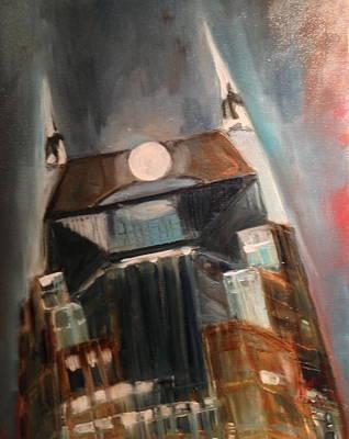 Batman Building Painting - Nashville Rises by Wendi Strauch Mahoney