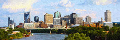 Nashville Skyline Mixed Media - Nashville Skyline by Garland Johnson